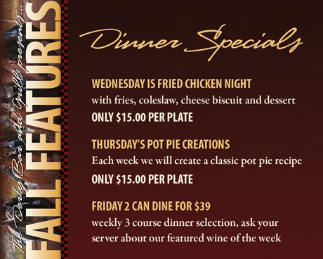 FALL FEATURES - Dinner